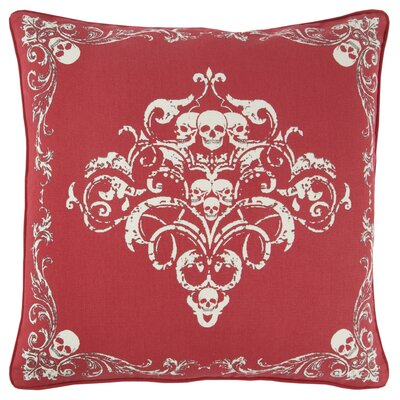 Chafin Modern 100% Cotton Throw Pillow Color: Red