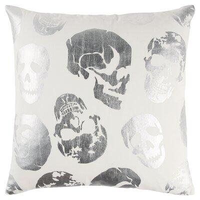 Energizer 100% Cotton Throw Pillow Color: Silver