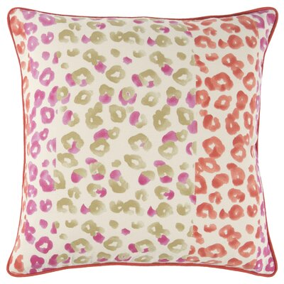 Honoria 100% Cotton Square Throw Pillow Color: Pink