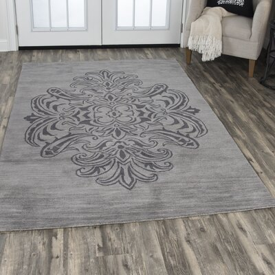 Beecroft Hand-Tufted Wool Gray/Dark Gray Area Rug Rug Size: Rectangle 5 x 8