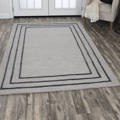 Freya Hand-Tufted Wool Light Gray Area Rug Rug Size: Rectangle 5 x 8