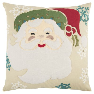 Holiday Santa Clause 100% Cotton Throw Pillow