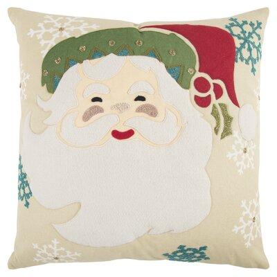 Santa Clause 100% Cotton Throw Pillow