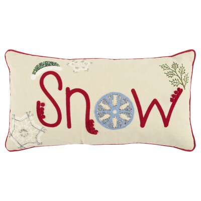 Holiday Snow 100% Cotton Lumbar Pillow