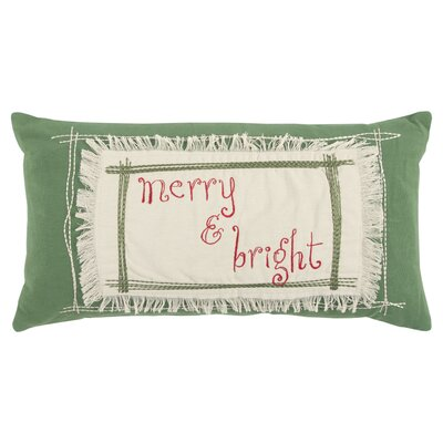 Merry and Bright 100% Cotton Throw Pillow
