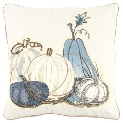 Georgeson Pumpkins Applique Square 100% Cotton Throw Pillow