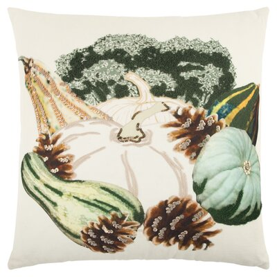 Georgeson Pumpkins Sequined 100% Cotton Throw Pillow