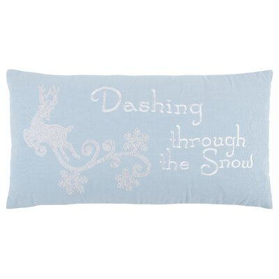 Dashing Through The Snow 100% Cotton Throw Pillow