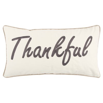 Holiday Thankful 100% Cotton Throw Pillow Color: Dark Brown