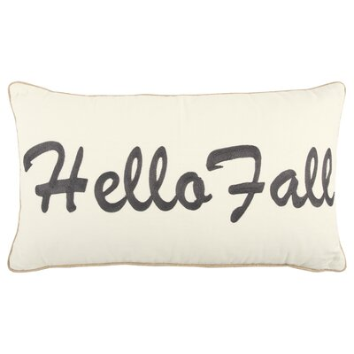 Holiday Hello Fall 100% Cotton Throw Pillow Color: Dark Brown