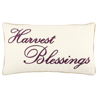 Harvest Blessings 100% Cotton Throw Pillow