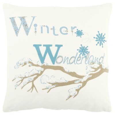 Holiday Winter Wonderland 100% Cotton Throw Pillow