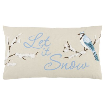 Holiday Let It Snow 100% Cotton Lumbar Pillow