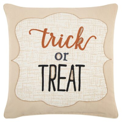 Holiday Trick or Treat 100% Cotton Throw Pillow