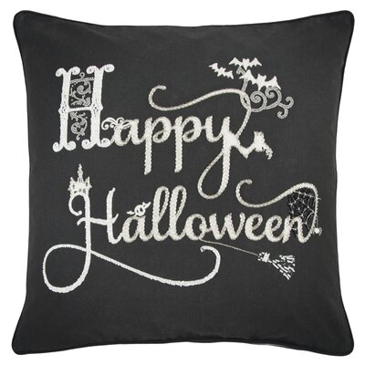 Holiday Happy Halloween 100% Cotton Throw Pillow