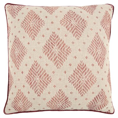 Saige Decorative 100% Cotton Throw Pillow Color: Pink
