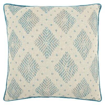 Saige Decorative 100% Cotton Throw Pillow Color: Natural