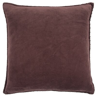 Hindsboro Decorative 100% Cotton Throw Pillow Color: Burgundy