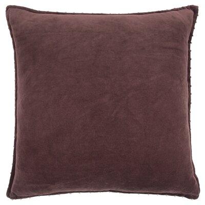 Hindsboro Decorative 100% Cotton Throw Pillow Color: Burgundy