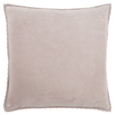 Hindsboro Decorative 100% Cotton Throw Pillow Color: Taupe