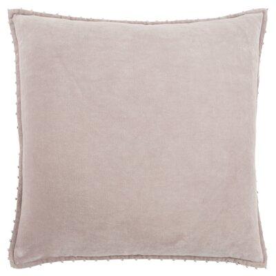 Hindsboro Decorative 100% Cotton Throw Pillow Color: Taupe