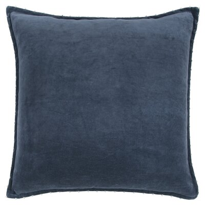 Hindsboro Decorative 100% Cotton Throw Pillow Color: Indigo