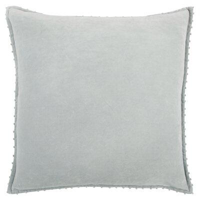 Hindsboro Decorative 100% Cotton Throw Pillow Color: Soft gray