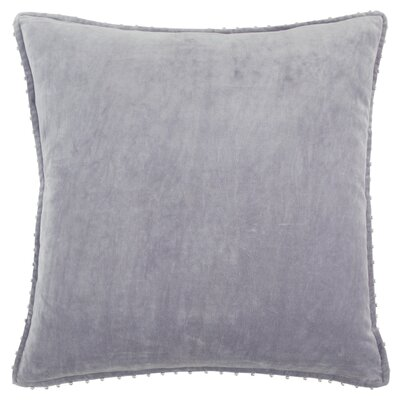 Hindsboro Decorative 100% Cotton Throw Pillow Color: Gray
