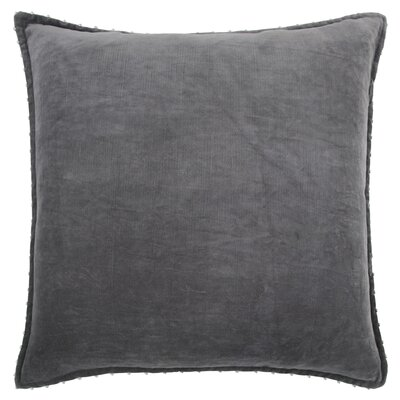 Hindsboro Decorative 100% Cotton Throw Pillow Color: Dark Gray