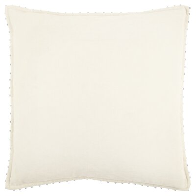Hindsboro Decorative 100% Cotton Throw Pillow Color: Ivory