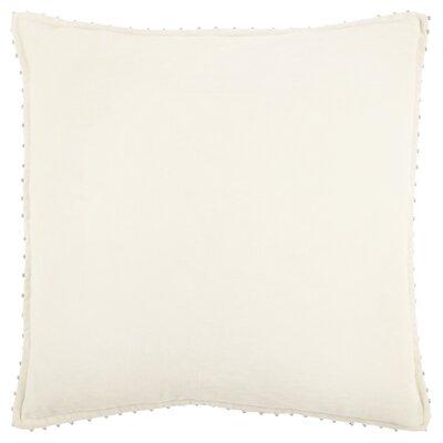 Hindsboro Decorative 100% Cotton Throw Pillow Color: Ivory