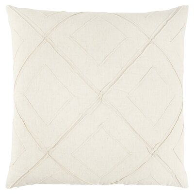 Kingsburg Decorative 100% Cotton Throw Pillow Color: White, Size: 22 x 22