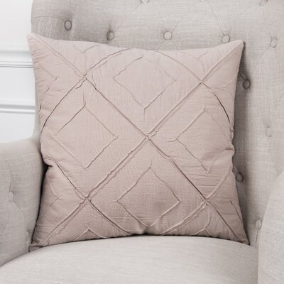 Kingsburg Decorative 100% Cotton Throw Pillow Color: Blush, Size: 22 x 22