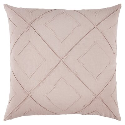 Kingsburg Decorative 100% Cotton Throw Pillow Color: Blush, Size: 22 x 22
