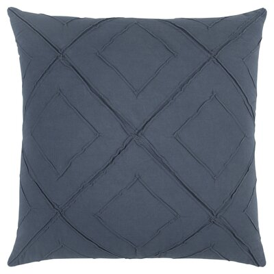 Kingsburg Decorative 100% Cotton Throw Pillow Color: Indigo, Size: 22 x 22