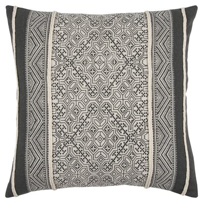 Delafield Decorative 100% Cotton Throw Pillow Color: Gray