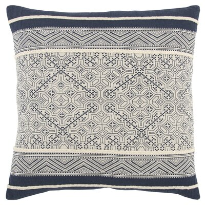 Delafield Decorative 100% Cotton Throw Pillow Color: White