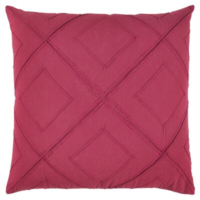 "Image of Kingsburg Decorative 100% Cotton Throw Pillow Color: Steel Pink, Size: 20"" x 20"""