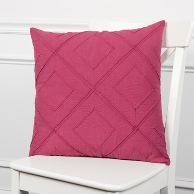 Kingsburg Decorative 100% Cotton Throw Pillow Color: Steel Pink, Size: 20 x 20