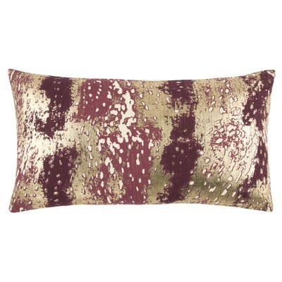 Caudle Decorative 100% Cotton Lumbar Pillow Color: Wine