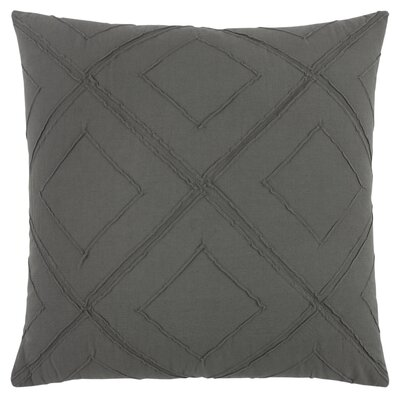 Kingsburg Decorative 100% Cotton Throw Pillow Color: Charcoal/Gray, Size: 20 x 20