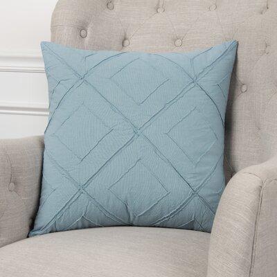 Kingsburg Decorative 100% Cotton Throw Pillow Color: Turquoise, Size: 20 x 20