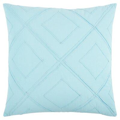 Kingsburg Decorative 100% Cotton Throw Pillow Color: Light Blue, Size: 20 x 20