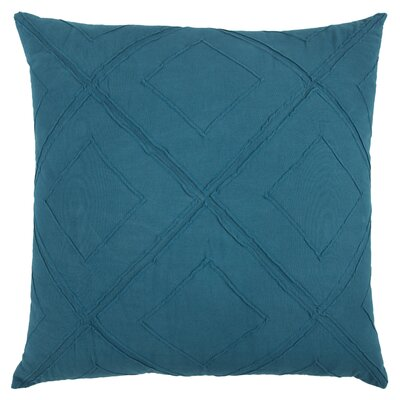 Kingsburg Decorative 100% Cotton Throw Pillow Color: Peacock Blue, Size: 20 x 20