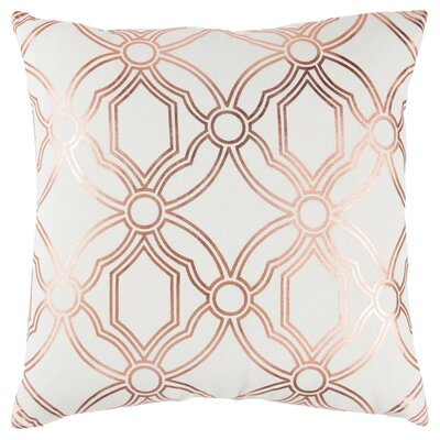Ravello Decorative 100% Cotton Throw Pillow Color: Pink