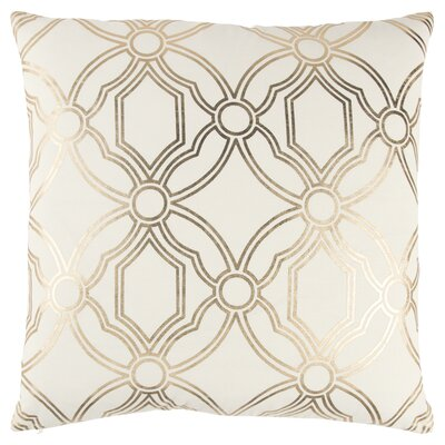 Ravello Decorative 100% Cotton Throw Pillow Color: Ivory