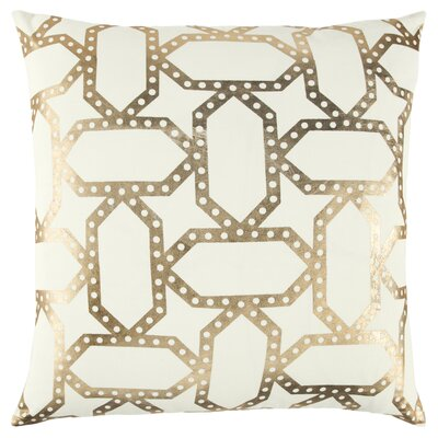 Redick Decorative 100% Cotton Throw Pillow Color: Ivory