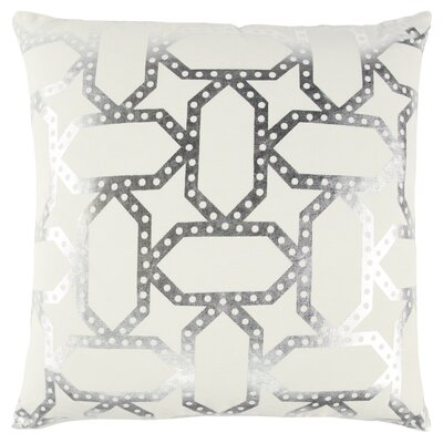 Redick Decorative 100% Cotton Throw Pillow Color: Black