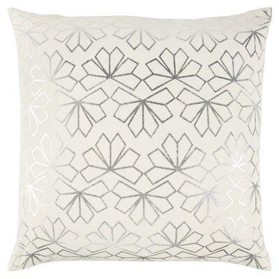 Redmont Decorative 100% Cotton Throw Pillow Color: Ivory