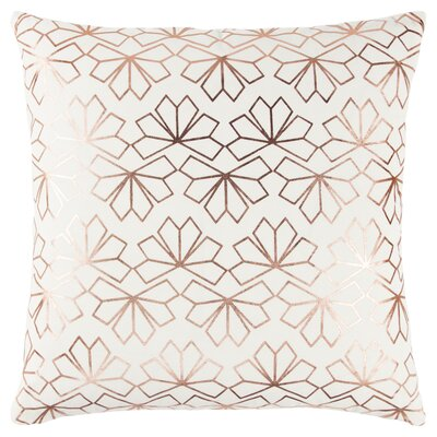 Redmont Decorative 100% Cotton Throw Pillow Color: Pink